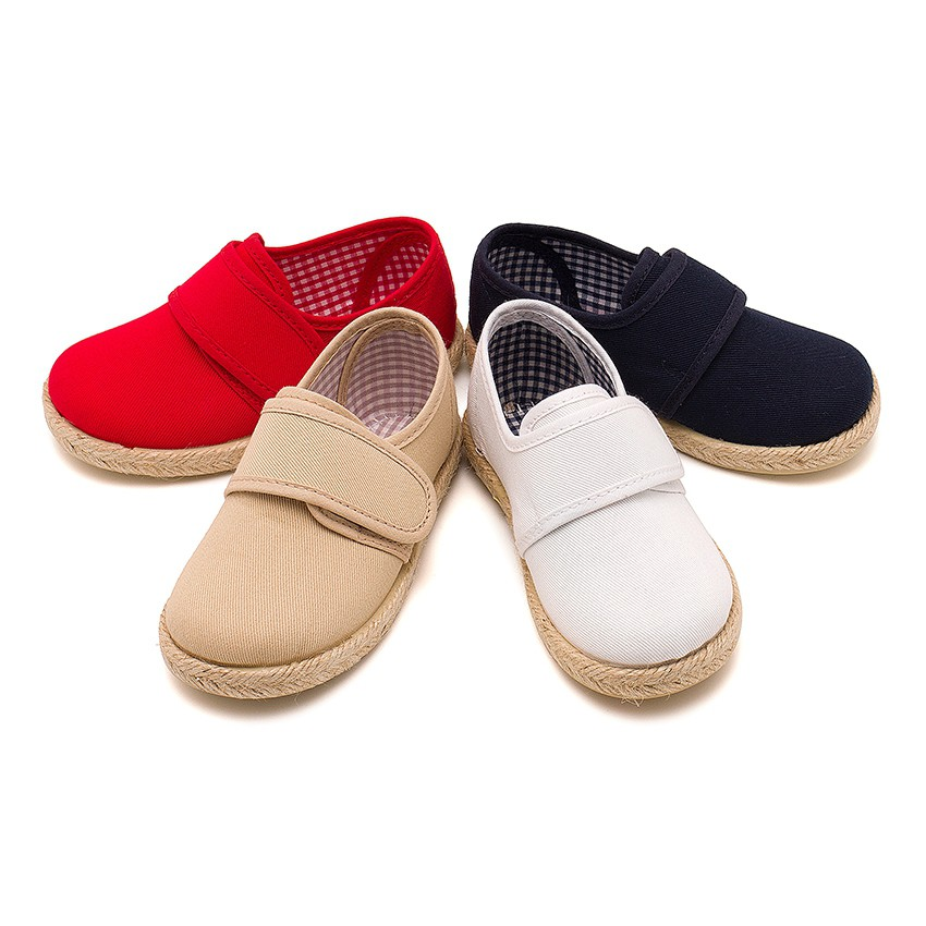Sapatos Blucher tiras aderentes   Sola Alpargata