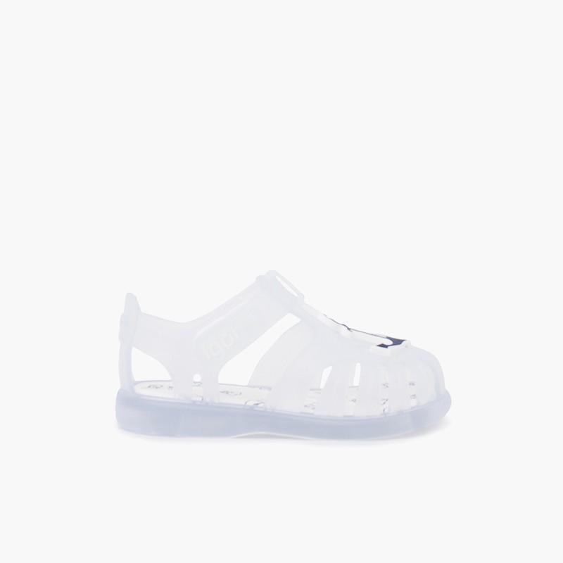 Sandálias de Borracha Náuticas Tira Aderente