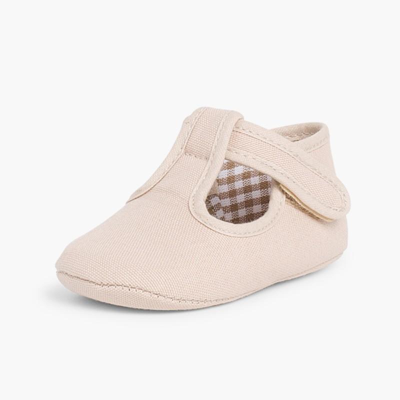 Sapatos Pepito Bebé Tela Velcro Areia