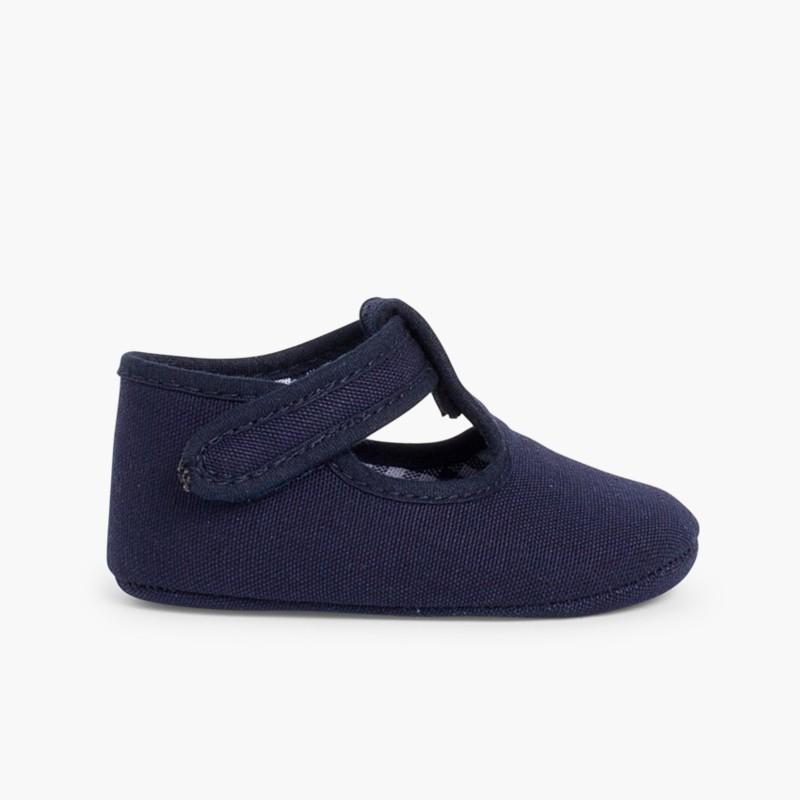 Sapatos Pepito Bebé Tela Velcro Azul Marinho