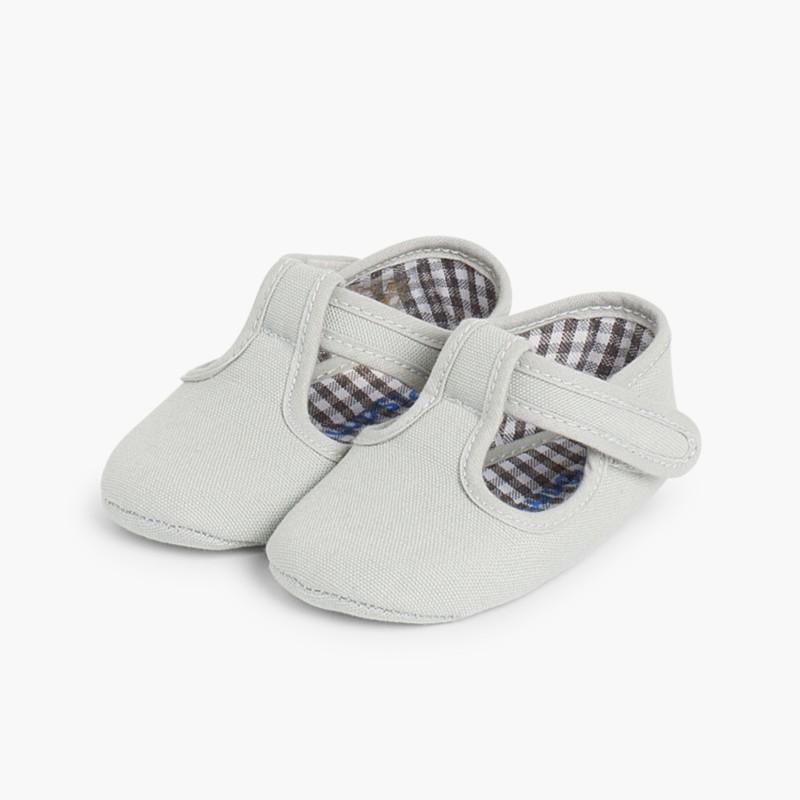 Sapatos Pepito Bebé Tela Velcro Cinzento