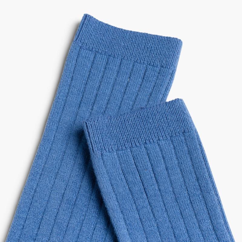 Meias Altas Caneladas Cóndor Azul França