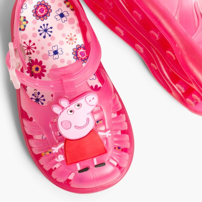 Sand��lias de borracha Menina Peppa Pig Fúcsia