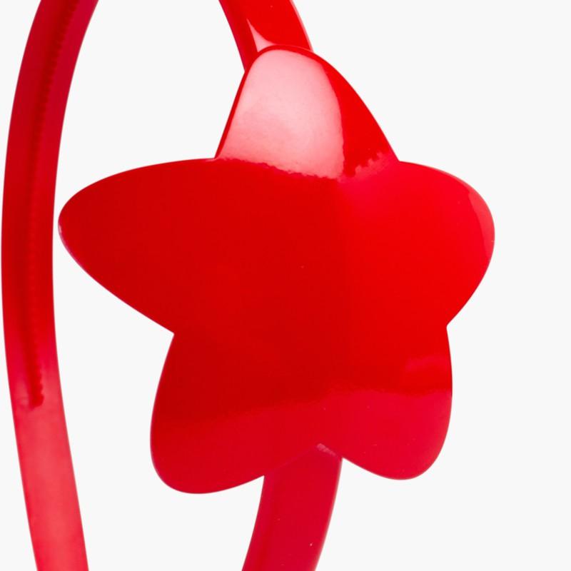 Bandolete com Estrela Menina Vermelho