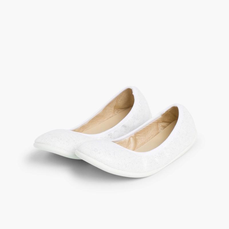 Sabrinas de Linho Metalizado Branco