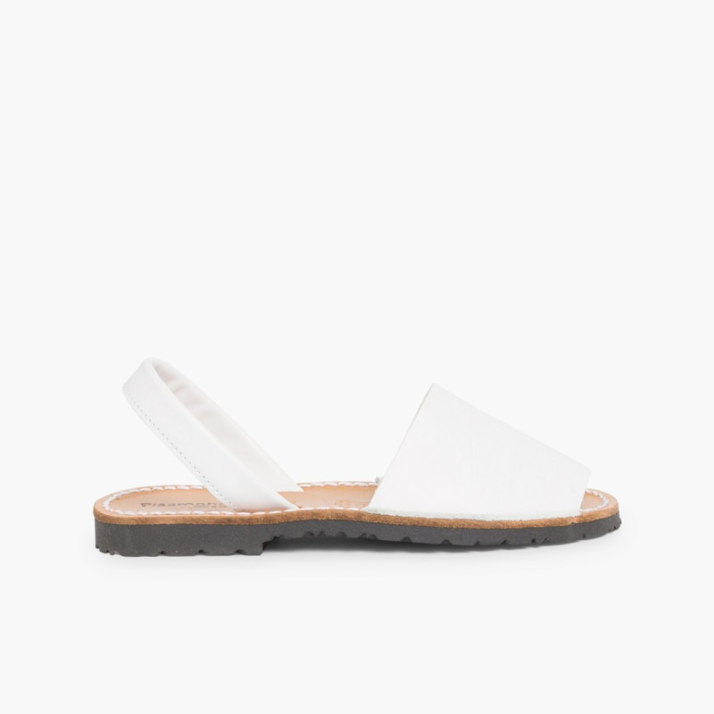 Sand��lias Menorquinas Napa Branco