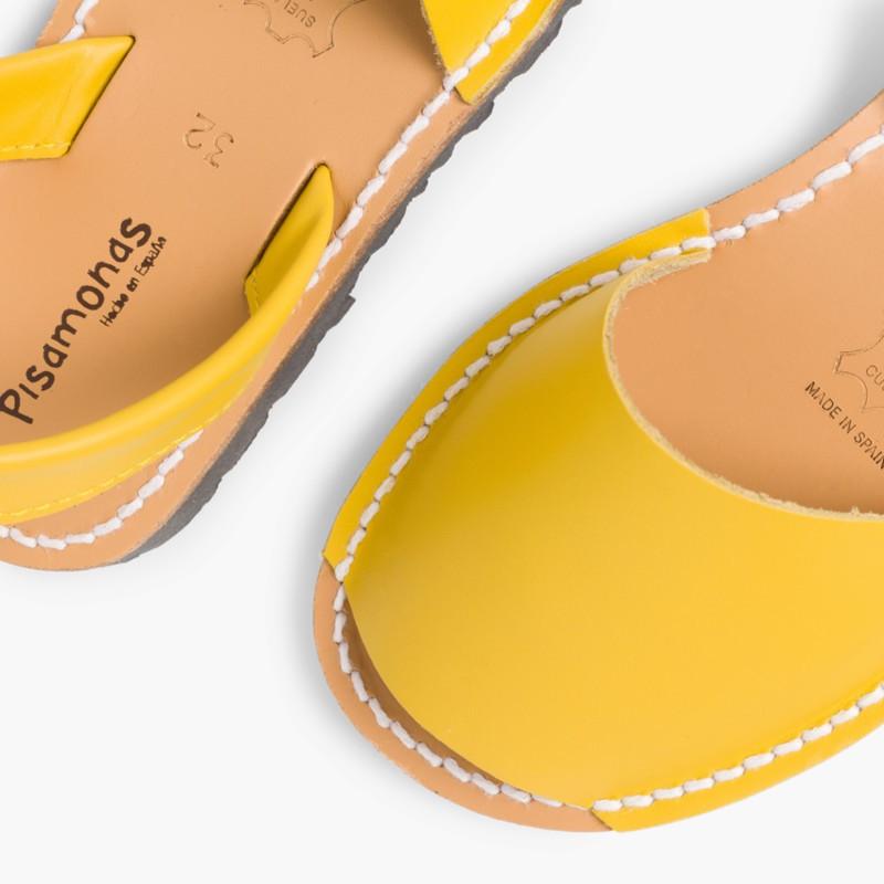 Sand��lias Menorquinas Napa Amarelo