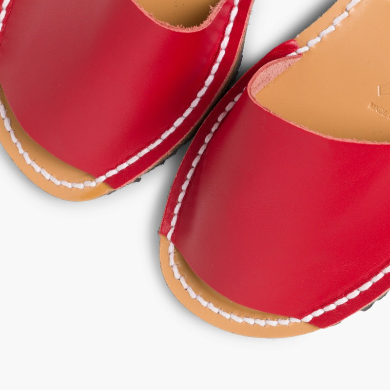 Sand��lias Menorquinas Napa Vermelho