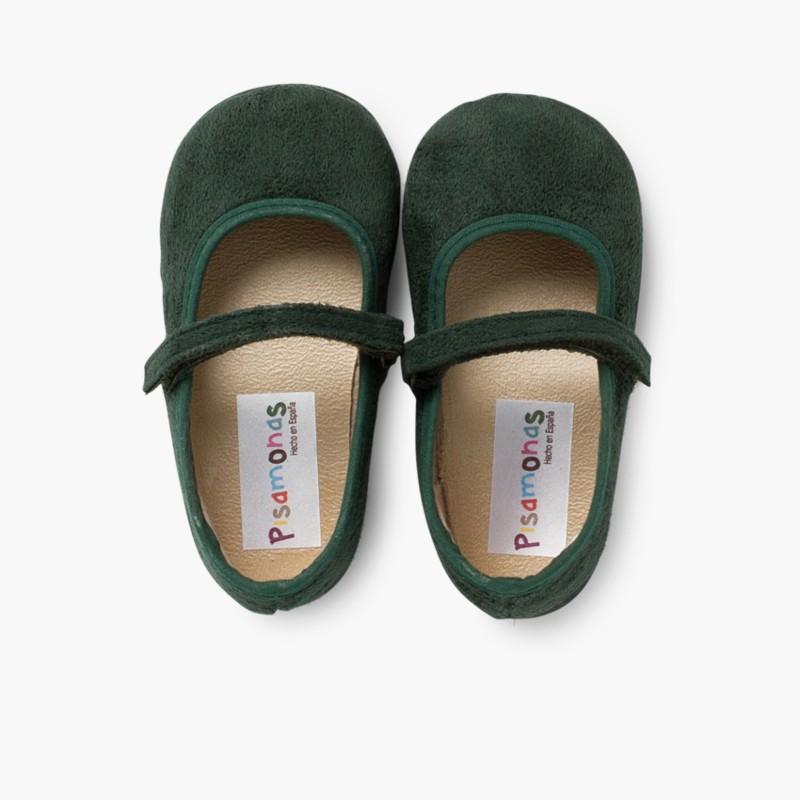 Sapatos Merceditas Bamara com Velcro Verde