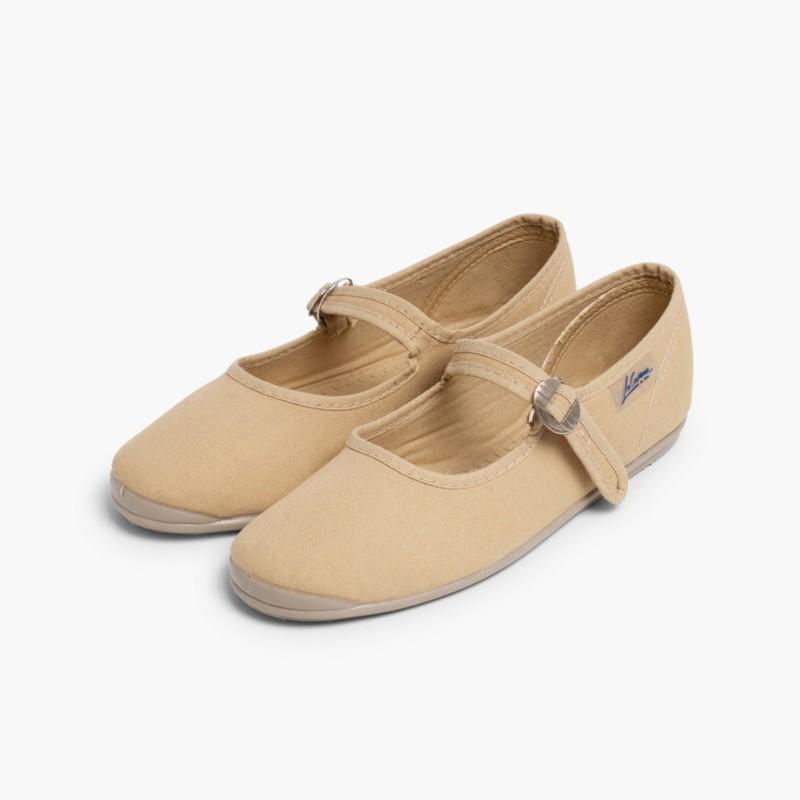 Sapatos Merceditas Menina La Cadena Bege