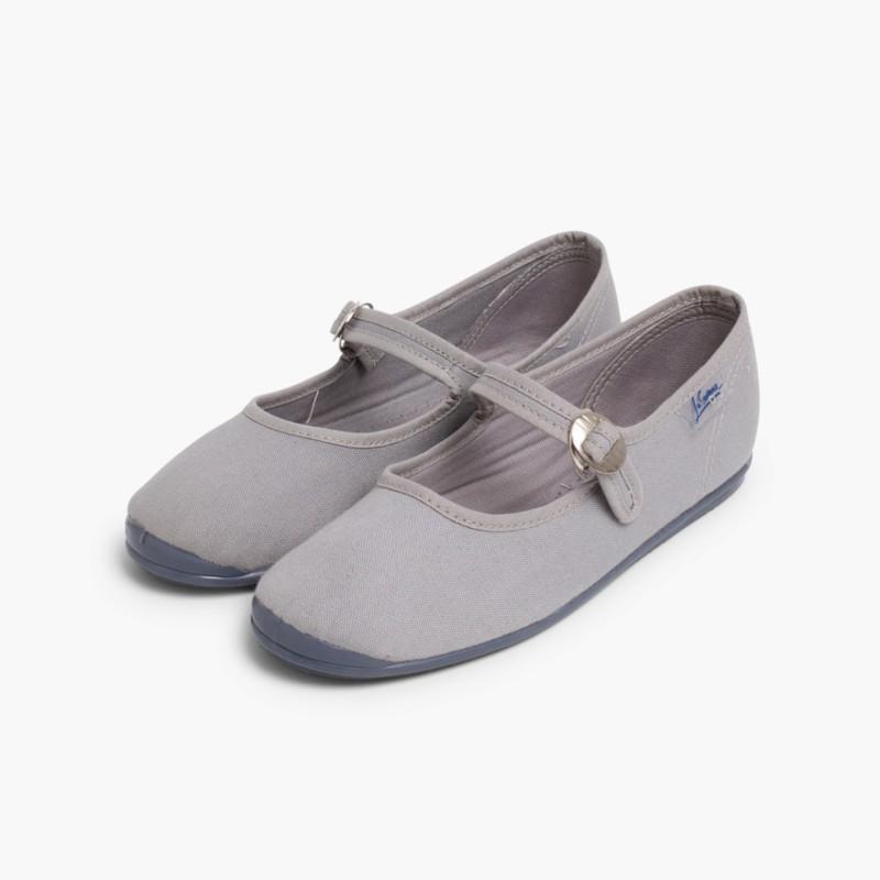 Sapatos Merceditas Menina La Cadena Cinzento