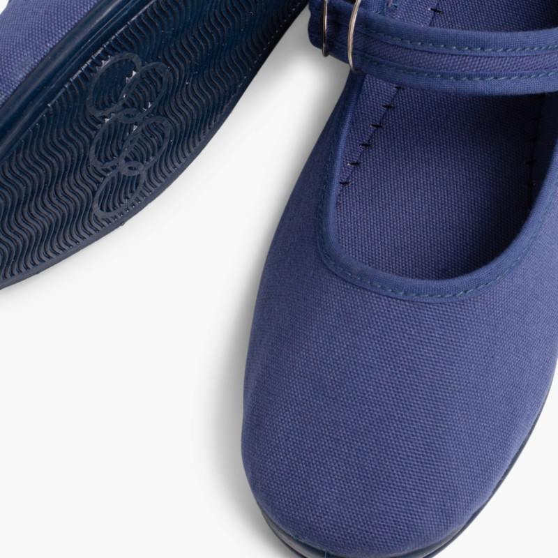 Sapatos Merceditas Menina La Cadena Azul Marinho