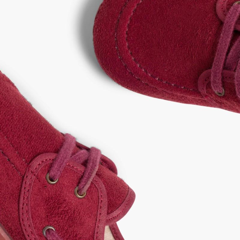 Sapatos de Vela tipo Camurça com atacadores Bordeaux