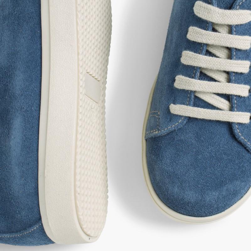 Ténis Camurça Atacadores Azul Jeans