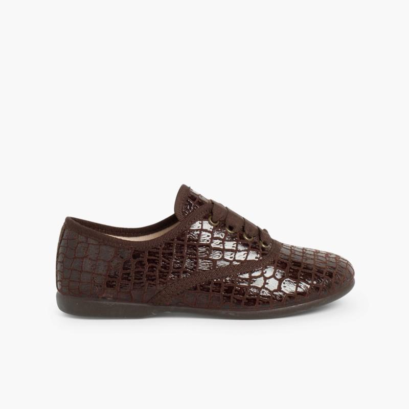 Sapatos Blucher Mulher e Menina Coco Castanho