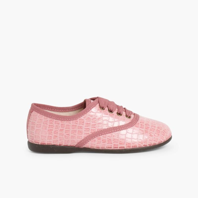 Sapatos Blucher Mulher e Menina Coco Rosa