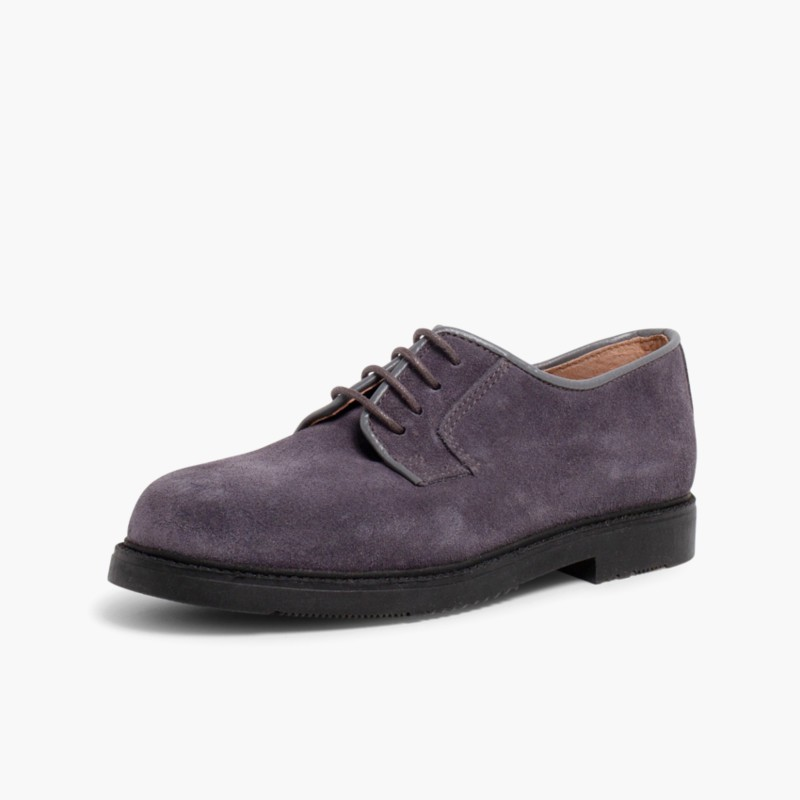 Sapatos Blucher lisos Antracite