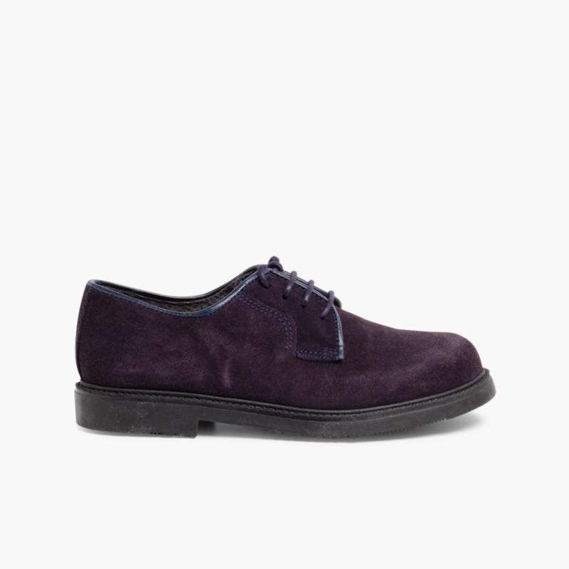 Sapatos Blucher lisos Azul Marinho