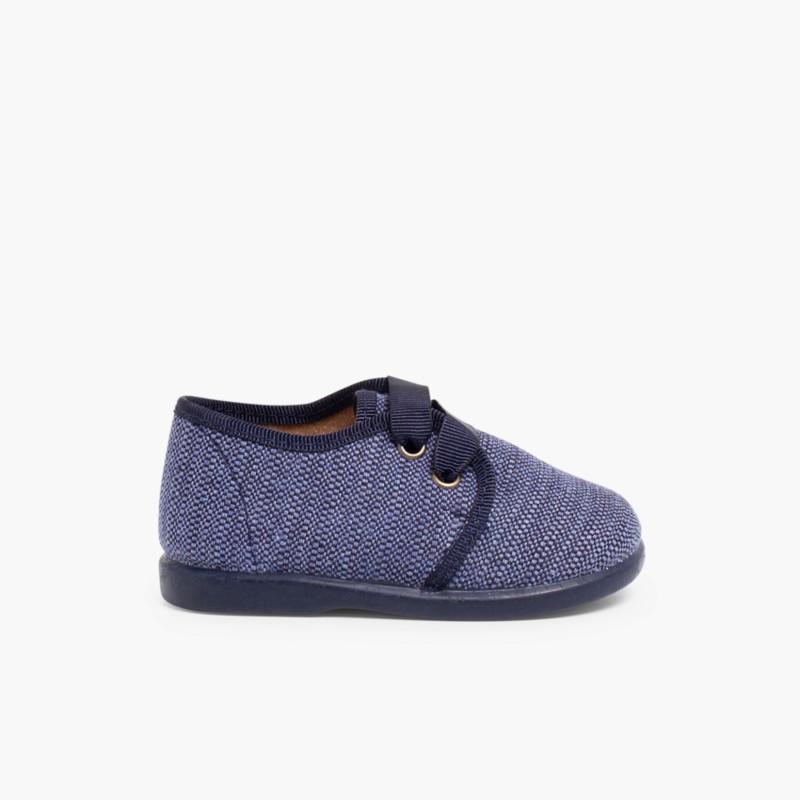 Sapatos de Tela tipo Blucher Menino Azul