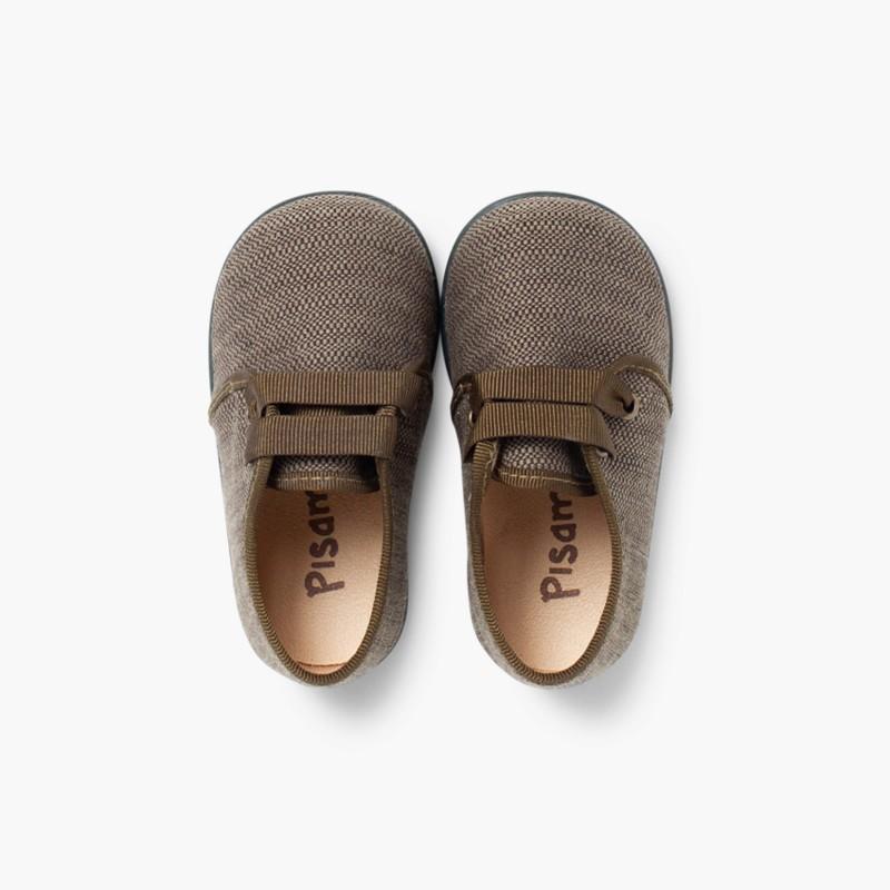 Sapatos de Tela tipo Blucher Menino Caqui