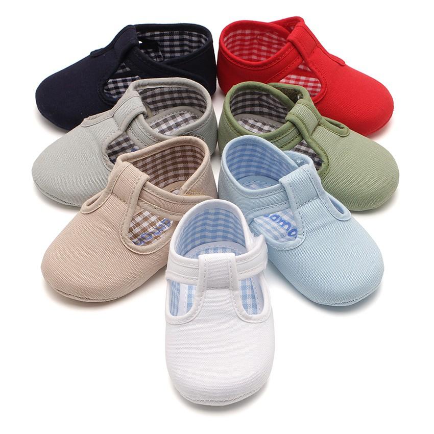 Sapatos Pepito Bebé Tela tiras aderentes