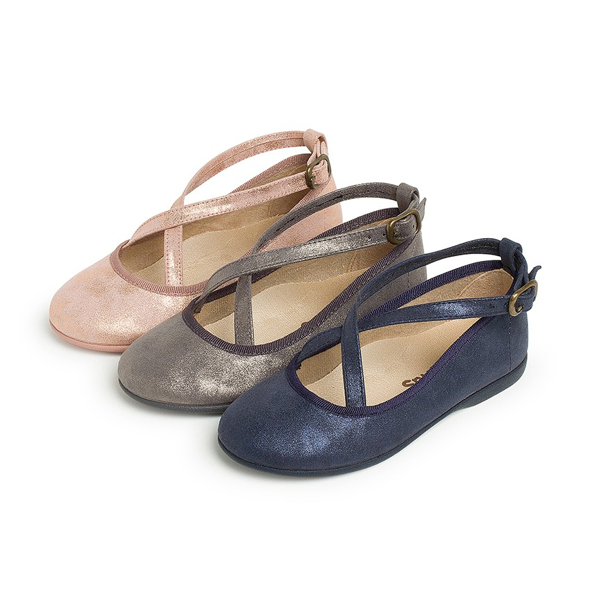 Sapatos Merceditas Fivela Tiras Cruzadas