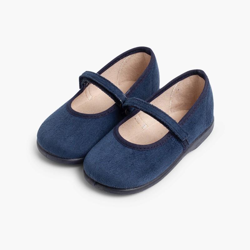 Merceditas Niña Bamara Velcro  azul marino