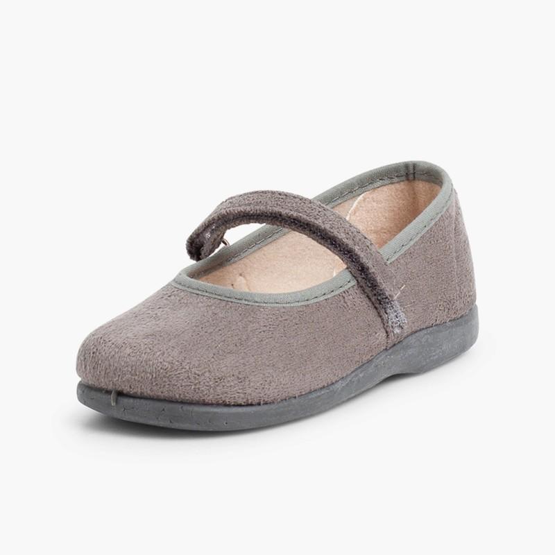 Merceditas Niña Bamara Velcro  gris