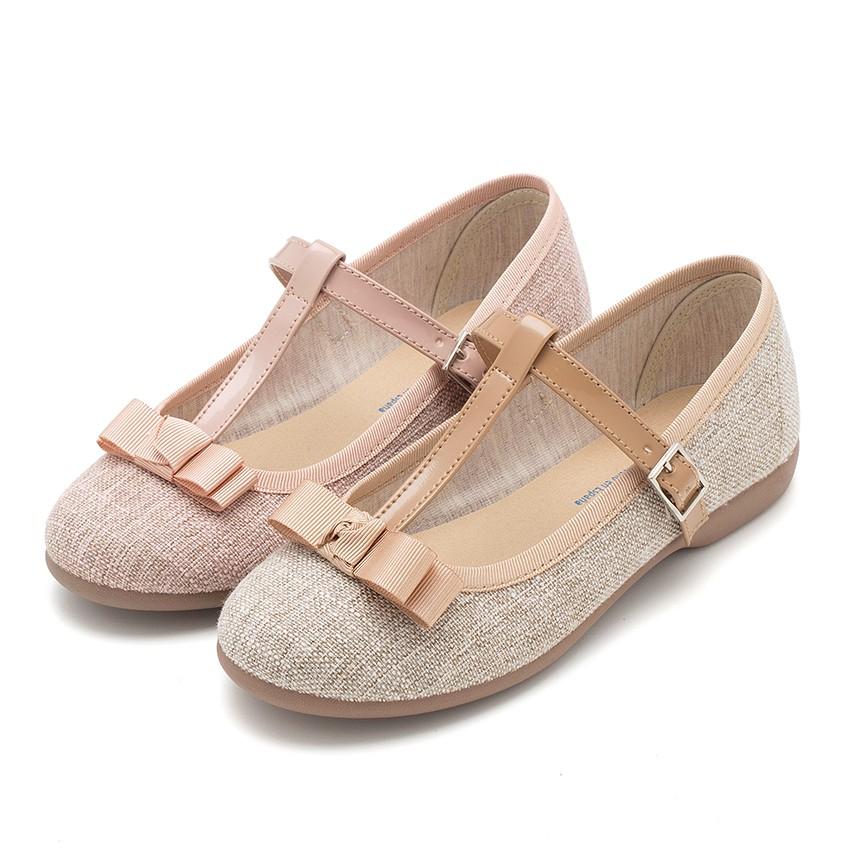 Sapatos Merceditas Menina tira com laço