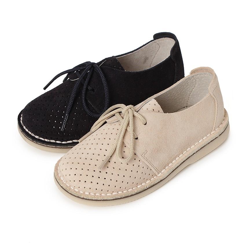 Sapatos Blucher Camurça com Picotado