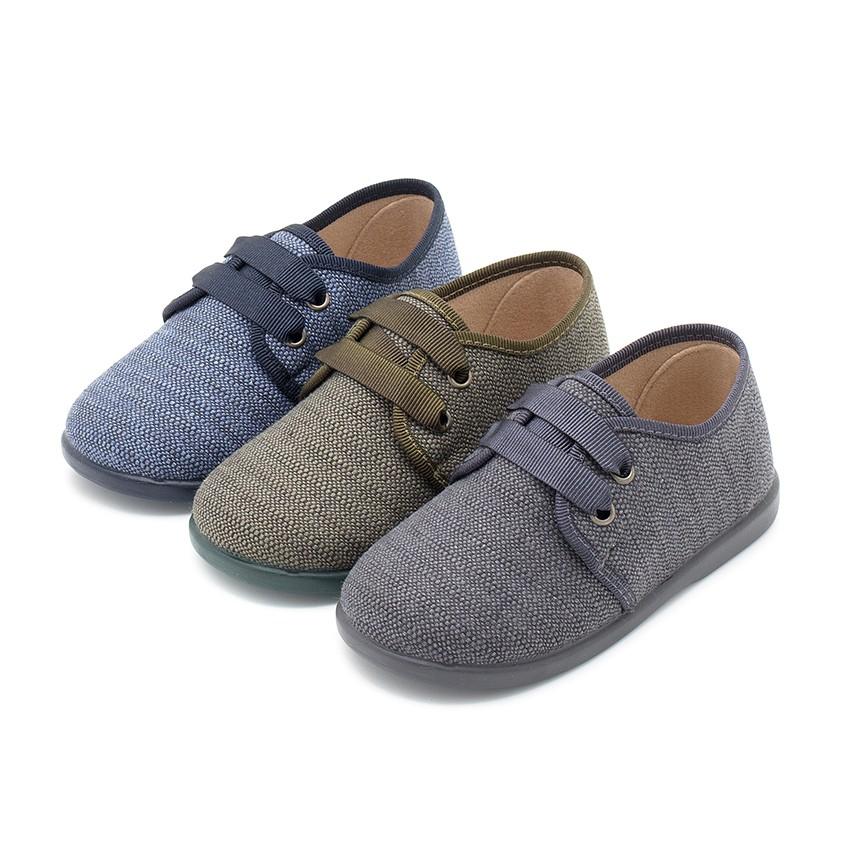 Sapatos de Tela tipo Blucher Menino