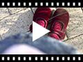 Video from Sapatos Merceditas de Veludo com Botão Velcro