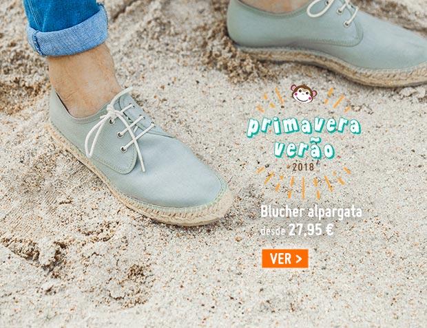 Sapatos Blucher de Lona com sola Alpargata