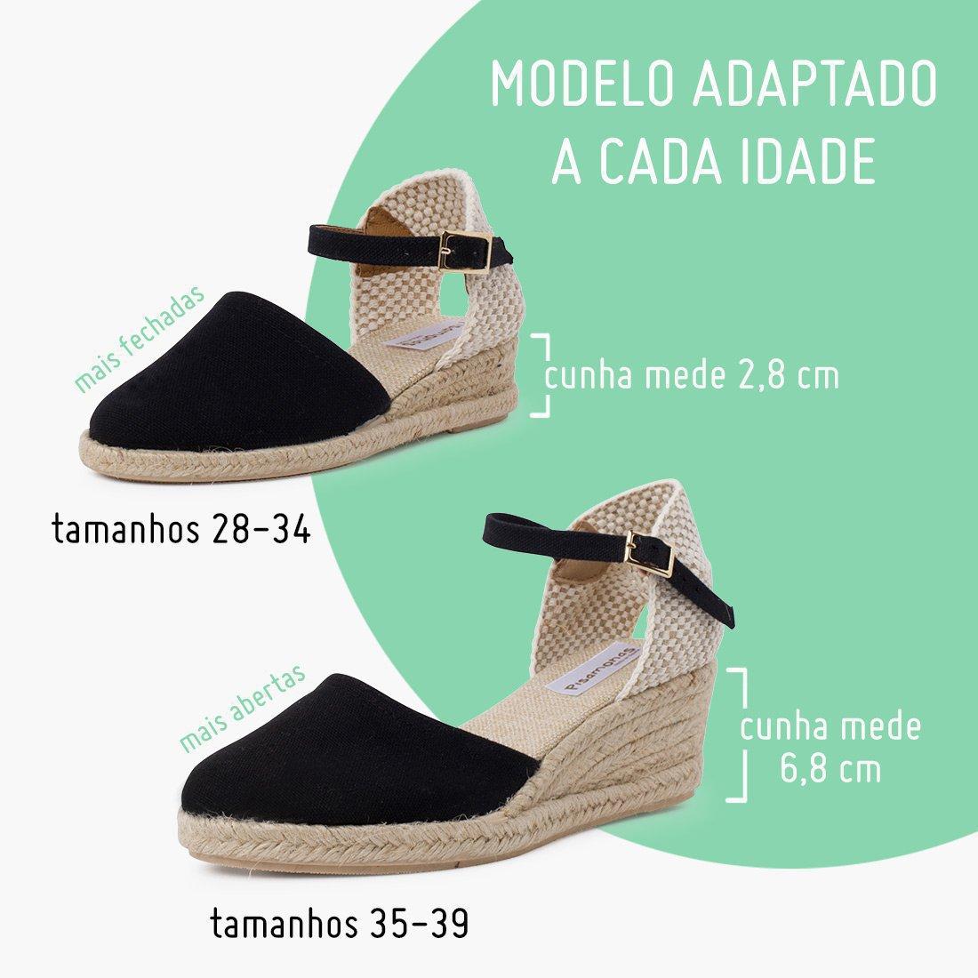 As minhas sandálias com cunha!
