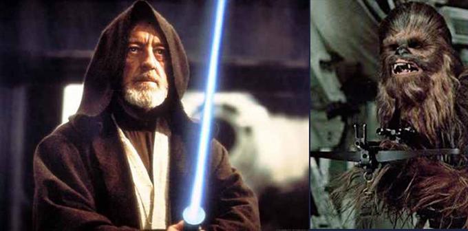 Obi e Chewbacca