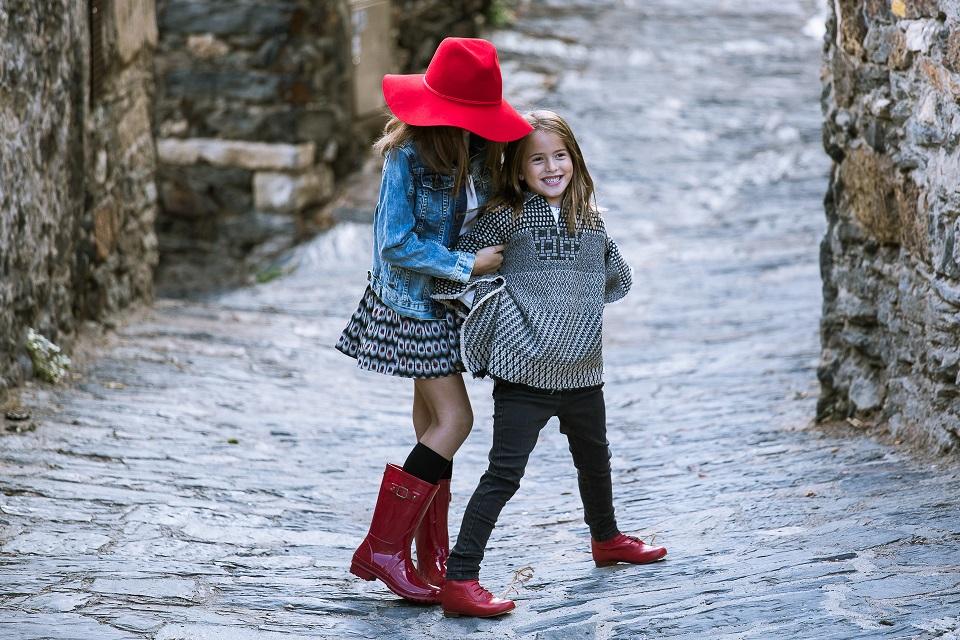 Botas Vermelhas para meninas Pisamonas