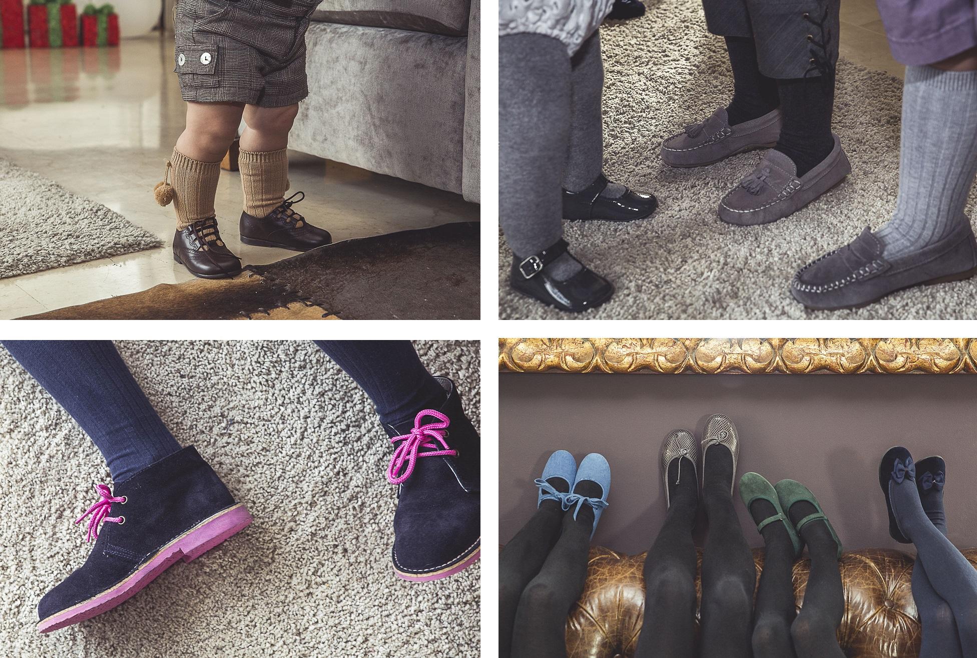 Variedade de sapatos para o Natal