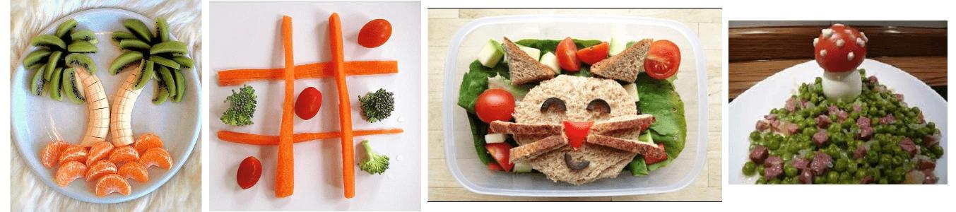 Apresentações divertidas para a comida dos seus filhos