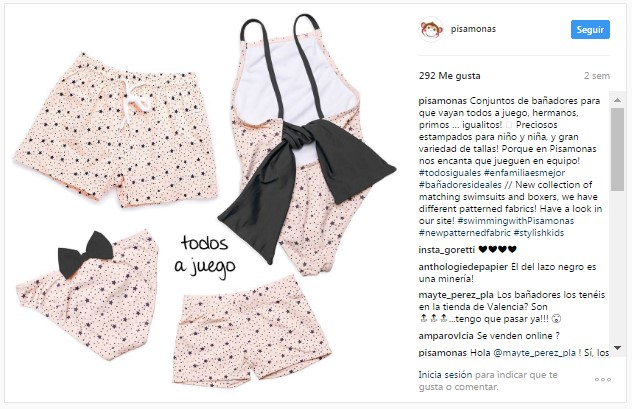 Instagram Pisamonas Fatos de Banho Coleção Banho Infantil