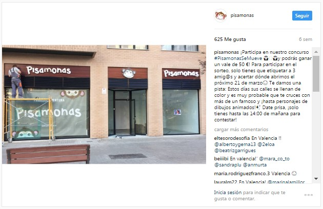 Instagram Pisamonas Novas Lojas Bilbao, Valência e Sevilha