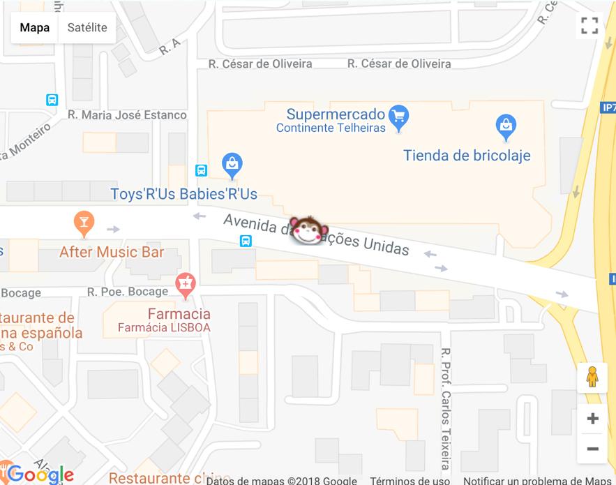 Mapa Loja Pisamonas Lisboa