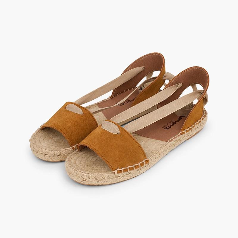 Sandálias Camurça com Fitas em Saldos