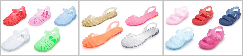 Sandálias de Borracha Crianças e Mulher