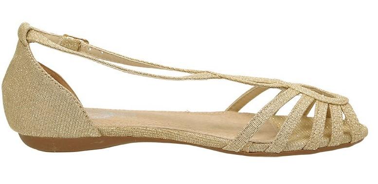 Sandálias ouro para meninas